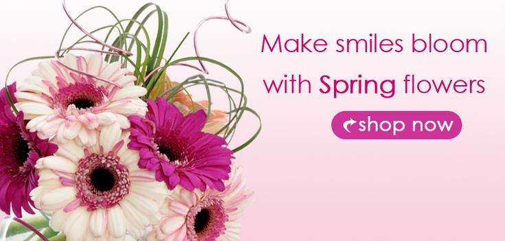 Spring - Make Smiles with Spring Blooms.