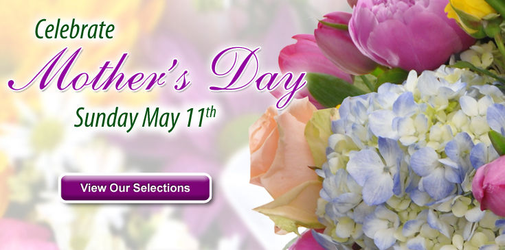 Celebrate Mom with flowers.