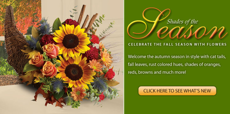 Celebrate fall the season of color with any of our lush designs.