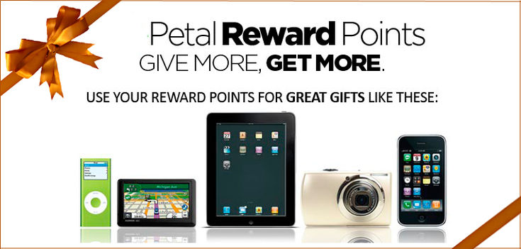 Earn points with every online purchase.